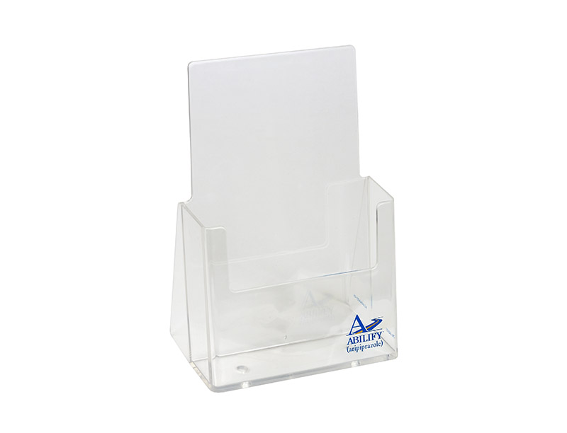 Acrylic Brochure holder-silk Screened