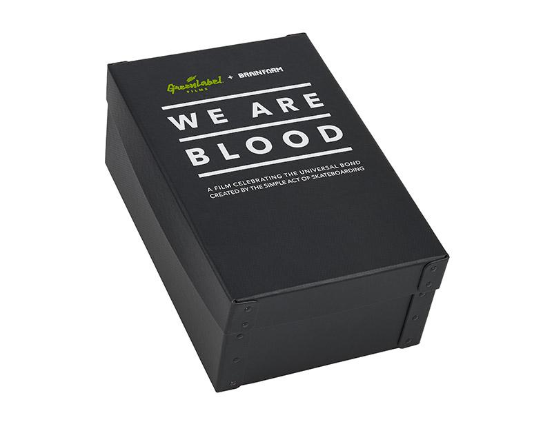 Fiberboard Marketing Box with separate cover - silk screened
