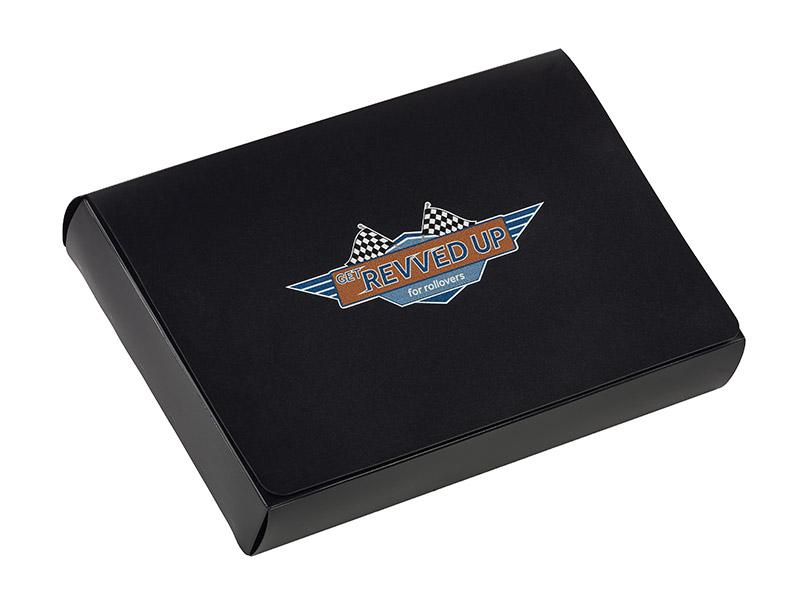 Poly cigar style box silk screened